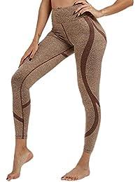 Watopi Leggings de Sport pour Femme Pantalon Yoga Fitness Minceur Long  Basique élastique Running Skinny 00ec1c8552c