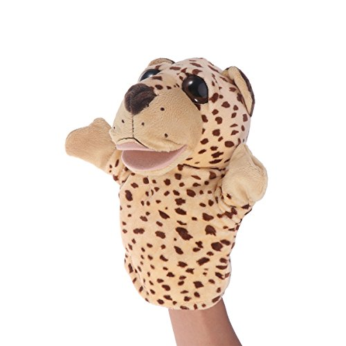TOYMYTOY Adorable Peluches Mano Puppet Leopard Zoo
