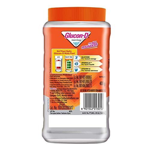 Glucon-D Orange flavoured Glucose Based Beverage Mix - 400 g Jar
