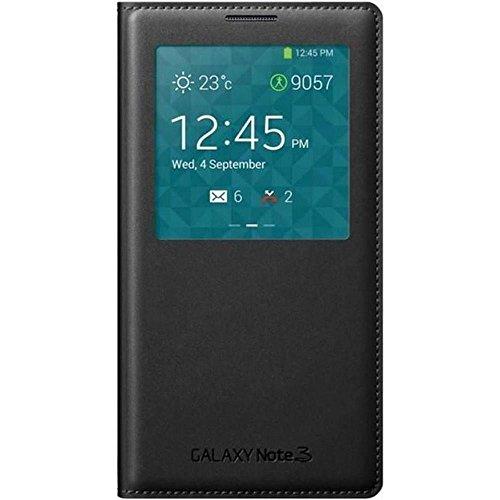Samsung S-View Schutzhülle Premium Flip Case Cover für Samsung Galaxy Note 3 - Schwarz