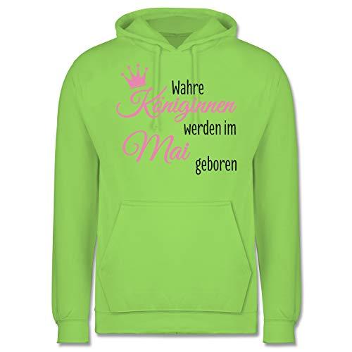 g - Wahre Königinnen Werden im Mai geboren - 3XL - Limonengrün - JH001 - Herren Hoodie ()