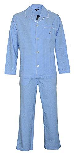 Polo Ralph Lauren Herren Zweiteiliger Schlafanzug Pyjama Set Long, Blau, L - Ralph Lauren Herren-oberteile