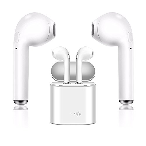 eadset, Sport Kopfhörer & Ladegerät Kit, Freisprecheinrichtung Apple iPhone 8 8 Plus 7 7 Plus 6 S Samsung Galaxy S7 S8 IOS Android Smartphone (True Blue Kit)