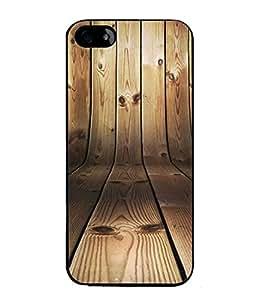 PrintVisa Designer Back Case Cover for Apple iPhone 4S (up down image wooden art)