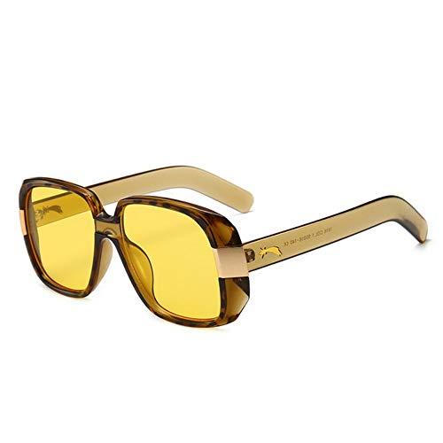 MOJINGYAN Sonnenbrillen,2019 Square Frauen Sonnenbrillen Mode Marke Design Golden Meteor Gläser Shades Sonnenbrille Frauen Männer Weibliche Oculos Uv400 Gelb