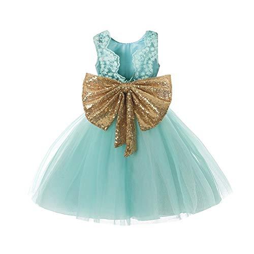 Yilvguang Baby Mädchen ärmellose Schleife Prinzessin Kleid Kleinkind Kostüm (Color : 3, Größe : - Kleinkind Großes Kostüm