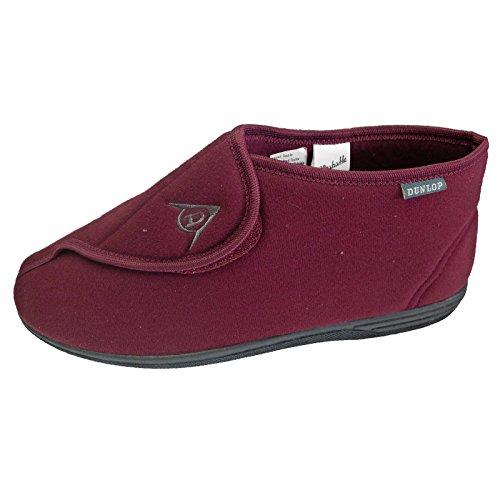 Komfort Loungewear (Dunlop Herren Albert Touch Befestigen Waschbar Verstellbar Hausschuhe Größen 6–12, Rot - Burgunderfarben - Größe: 42 EU)