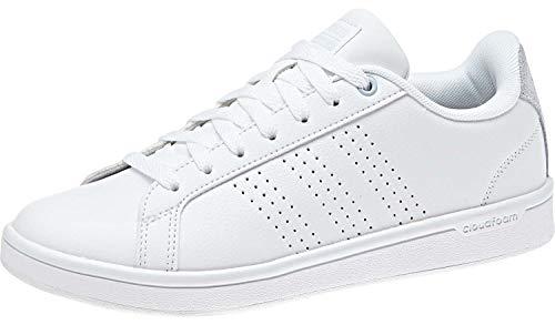 adidas B42136 CF Advantage CL Damen Sneaker aus Glattleder Flexible Laufsohle, Groesse 42 2/3, weiß