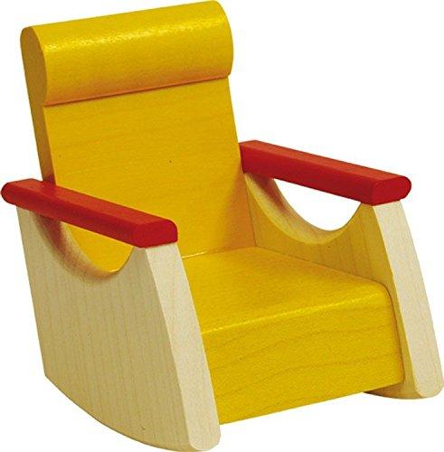 Rülke Holzspielzeug 22645 Puppenhauszubehör, gelb, rot, holzfarben