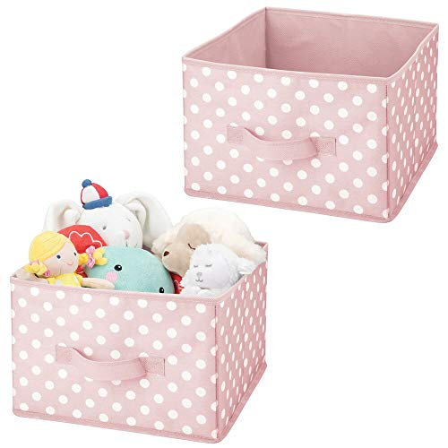 mDesign Juego de 2 contenedores de tela - Organizadores de juguetes de...