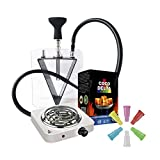 Lote Cachimba Metraquilato + Hornillo +1kg Carbon+1 paquete boquillas 100 Uds