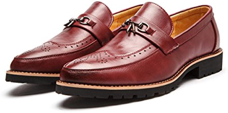 Retro Tallado Zapatos De Hombre Zapatos De Cuero Inglaterra Puntiagudos Zapatos Casuales