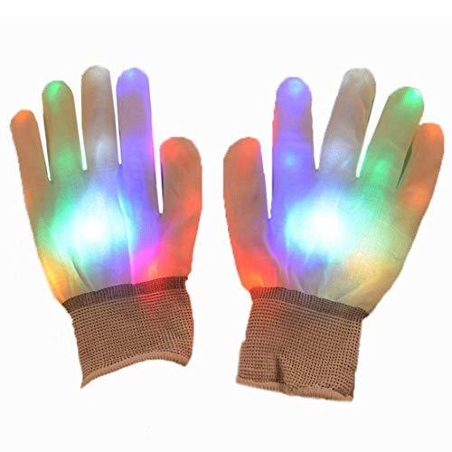 GiftLED Glowing Gloves Weihnachten Halloween Bar Requisiten Unterhaltung Karneval Handschuhe Finger Glow Light Up Gloves