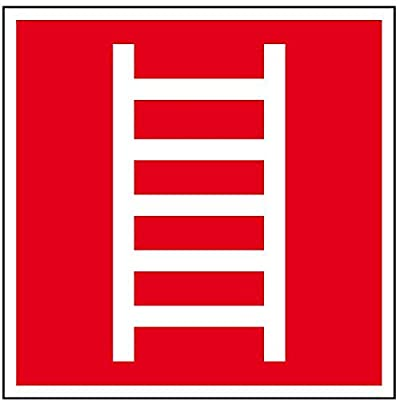 LEMAX® Brandschutzschild Leiter, praxisbewährt, Folie, selbstklebend, 200x200mm