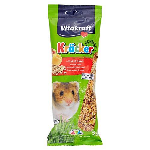 Vitakraft Kracker alla Frutta criceti 2 Pezzi-Snack roditori, Multicolore, Unica