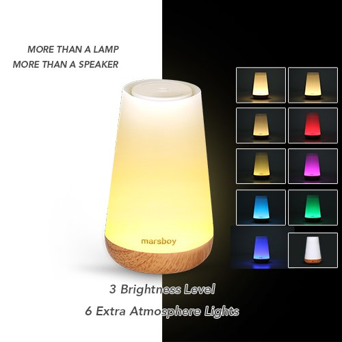 Touch control table lamp with bluetooth speaker led smart touch touch control table lamp aloadofball Gallery