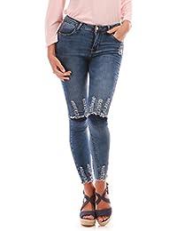 La Modeuse Jeans slim femme délavé