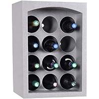Talous Buon Vino Étagère à vins - Casier range porte bouteilles empilables en polystyrène - 35 x 29,5 x 50 cm - pour 12…