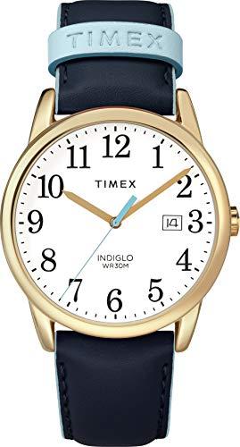Timex Damen Analog Quarz Uhr mit Leder Armband TW2R62600JT