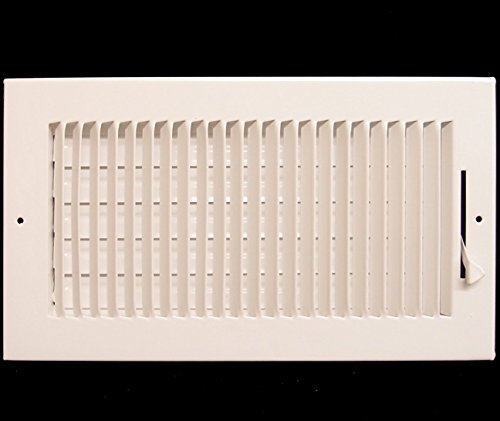 40,6x 15,2cm Abzweiger Air Supply Gitter-Duct Cover & haltesystems-flach Prägung Face-Weiß (Cover Wand-vent Duct)