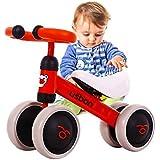 Draisienne Bébé, Vélo Enfant sans Pédales, Baby Balance Bike pour 1-3 Ans Enfants Premier Vélo, Tricycle Enfant (Rouge)