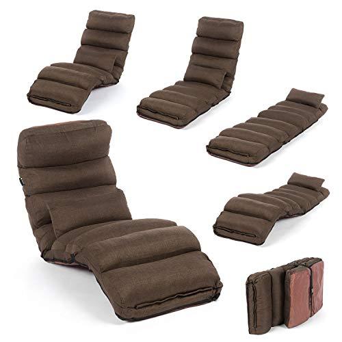 Smoothy Relaxliege klappbare Lounge Liege - 3-in-1 Sessel, Liege, Gästebett flexibel einstellbar;...