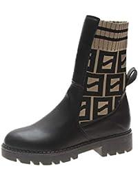 Shukun Botines Espectáculo para Caminar Botas Martin Moda para Mujer Calcetines elásticos de Punto Botas Pitillo