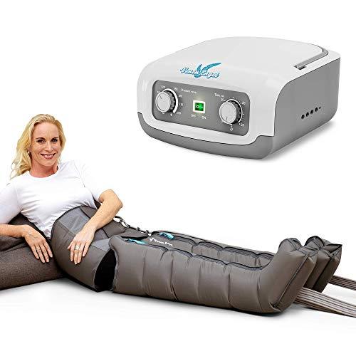 Vein Angel 4 Apparecchio per massaggi a onde con fascia addominale & gambali, 4 camere d\'aria, pressione & durata facilmente regolabili, no pressoterapia