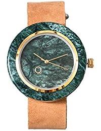 seQoya - Anaconda | Reloj de Piedra Hecho con mármol con Esfera de mármol y Correa