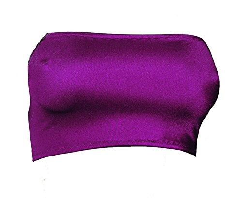 B28 Fantasystore Purple Lycra Boob Tube Mini Bra Top No Support [Sizes 4 - 18] Test