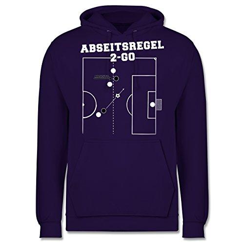 Fußball - Abseitsregel-2-Go - Männer Premium Kapuzenpullover / Hoodie Lila
