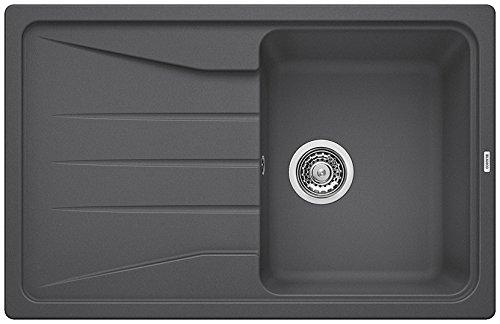 Preisvergleich Produktbild Blanco SONA 45 S, Küchenspüle, Silgranit Puradur, felsgrau, reversibel, 1 Stück, 519663