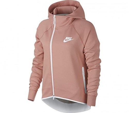 Nike W NSW TCH FLC Cape FZ Damen S Rust Pink/Bianco Preisvergleich