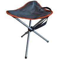 Milestone Compact Outdoor Tripod Stool Folding Leisure Stool - Grey, 33 x 33 x 43 cm