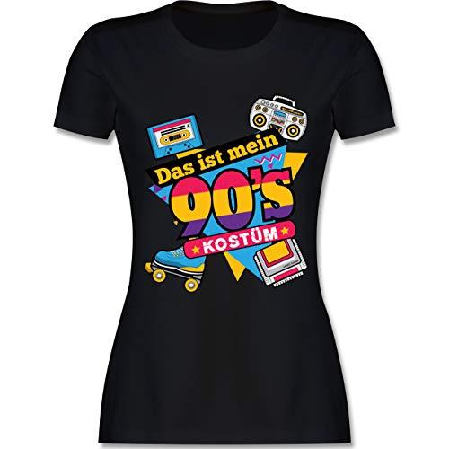 Karneval & Fasching - Das ist Mein 90er Jahre Kostüm - S - Schwarz - L191 - Damen Tshirt und Frauen - Schwarzen 90er Jahre Kostüm