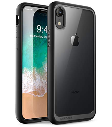 SUPCASE iPhone XR Hülle Hybrid Handyhülle Premium Case Transparent Schutzhülle Backcover [Unicorn Beetle Style] für Apple iPhone XR 6.1 Zoll 2018 (Schwarz) (Unlocked Handy I Phone)