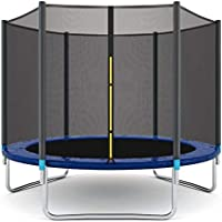 IDEALT Outdoor Sports Garden Trampoline with Safety Enclosure (8ft)