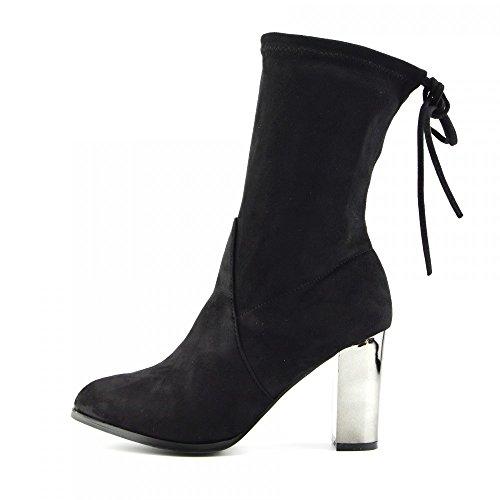 Kick FootwearChelsea Boots - Stivali Chelsea donna Black Metallic Heel
