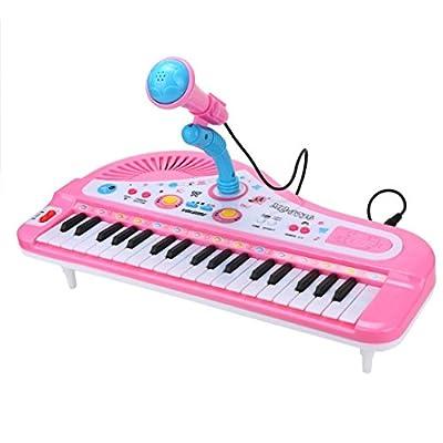 Winkey Electronic Organ Educational Toys 37 Keys Digital Music Electronic Keyboard Key Board Gift Electric Piano Gift