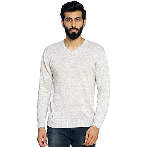 Duke Stardust Men Solid Sweater Beige Coloured XX-Large