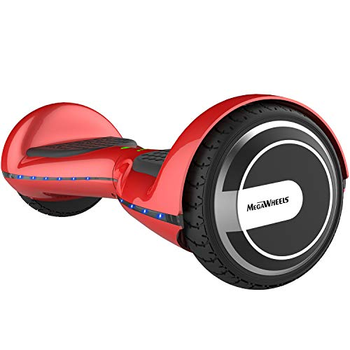 "M MEGAWHEELS 6.5"" Elettrico Hoverboard Scooter con Bluetooth e LED Luci (Rosso)"