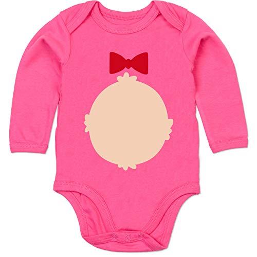 Shirtracer Karneval und Fasching Baby - Bär Kostüm Karneval - 12-18 Monate - Fuchsia - BZ30 - Baby Body ()