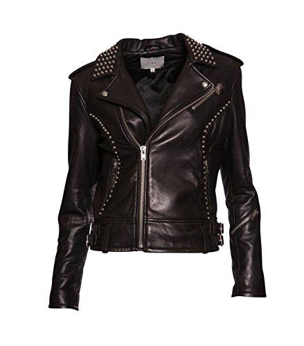 IRO Damen Lederjacke Gipsy Bikerjacke Jacke Leder - Leder - schwarz 01 black 42