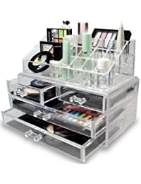 ShopAIS Cosmetic Organizer Cum Jewellery Box With 4 Drawers For Jewellery Cosmetics Multi Slots