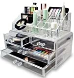 #7: ShopAIS Acrylic Clear Cosmetic Case