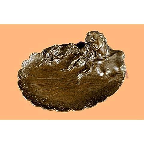 Arte Nouveau del plato de metal Por Bandeja Joyería Angles abstractas Esculturas, Estatuas, Estatuillas, Regalos, Coleccionismo Bronce ... 3