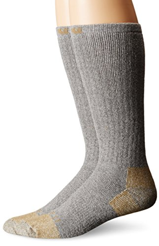 Carhartt Steel Toe Work Boot Sock (2 pack), CHA555-2-grey, L (Pack 2 Socks Work)
