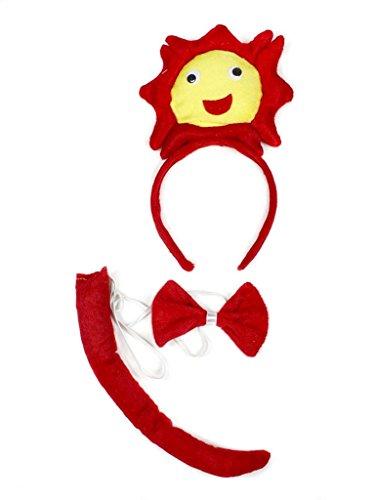 Petitebelle 3D-Stirnband Bowtie Schwanz Kostüm für Erwachsene Einheitsgröße 3d Sun (Sun Kostüme Erwachsene)