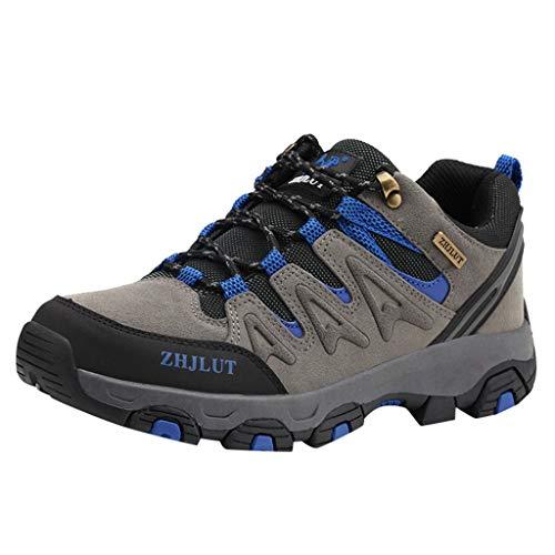 Bluestercool Sneakers da Trekking, Scarpe da Corsa Sport Uomo da Invernali Neve Stringata Ginnastica Basse Traspiranti Sportive Slip-on Tennis