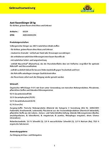 Neudorff 00139 Azet Rasendünger, 20 kg